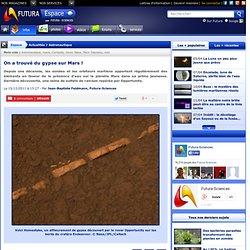 On a trouvé du gypse sur Mars !