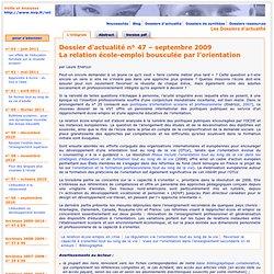 Dossier d'actualité – La relation école-emploi bousculée par l'orientation – septembre 2009