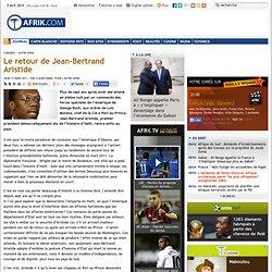 Le retour de Jean-Bertrand Aristide