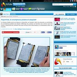 PaperFold, le smartphone pliable et adaptatif
