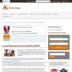 KFC KENTUCKY FRIED CHICKEN: La performance de la franchise KFC!