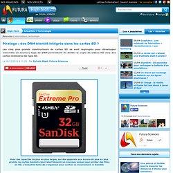 Piratage : des DRM bientôt intégrés dans les cartes SD ?