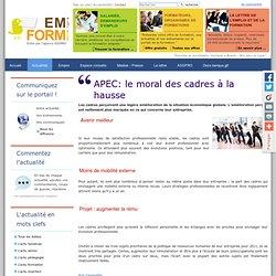 APEC: le moral des cadres à la hausse — L'actualité de la formation professionnelle des adultes en Bretagne et Pays de la Loire