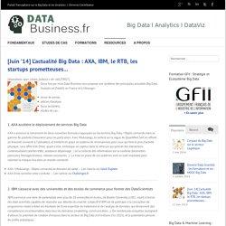 [Juin '14] L'actualité Big Data : AXA, IBM, le RTB, les startups prometteuses... l Data-Business.fr