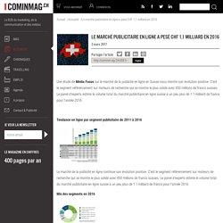Actualité - Le marché publicitaire en ligne a pesé CHF 1,1 milliard en 2016 - Cominmag