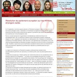 Le pôle droit des migrants et réfugiés / actualité - Résolution du parlement européen sur les mineurs étrangers isolés