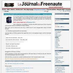 [tuto - Plus d'actualité] Acceder à son serveur web en local avec la Freebox révolution