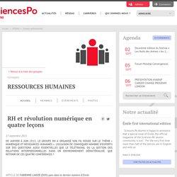 Actualité Alumni Sciences Po : RH et révolution numérique en quatre leçons