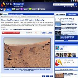 Mars : stupéfiant panorama à 360° autour de Curiosity