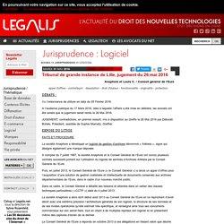 Tribunal de grande instance de Lille, jugement du 26 mai 2016