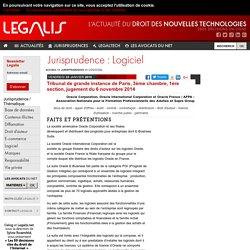Tribunal de grande instance de Paris, 3ème chambre, 1ère section, jugement du 6 novembre 2014