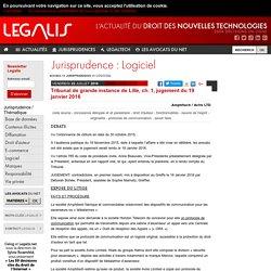 Tribunal de grande instance de Lille, ch. 1, jugement du 19 janvier 2016