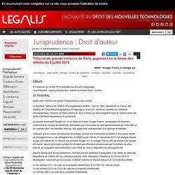 Tribunal de grande instance de Paris, jugement en la forme des référés du 8 juillet 2016