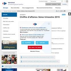 Groupe > Actualités > Chiffre d'affaires 3ème trimestre 2015