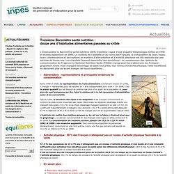 Actualités 2010 - Troisième Baromète santé nutrition : douze ans d'habitudes alimentaires passées au crible