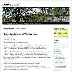 Actualités de l'AMAP