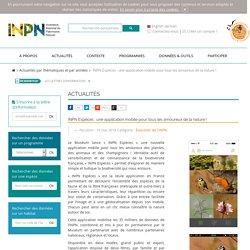 INPN - Actualités - INPN Espèces : une application mobile pour tous les amoureux de la nature !