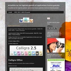 Logiciel gratuit Calligra Suite 2013 Licence gratuite - Multi OS - Suite Office + Suite Artistique