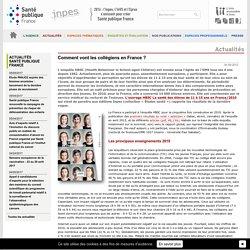 Inpes - Actualités 2012 - Comment vont les collégiens en France ?