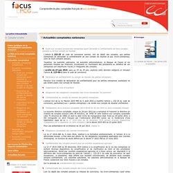 Actualités comptables nationales / Actualités comptables