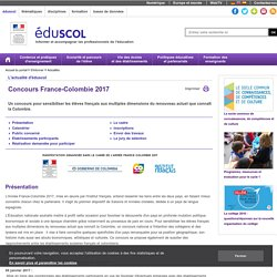 Actualités - Concours France-Colombie 2017