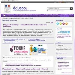 Actualités du numérique - consultation nationale des jeunes avec l'Isoloir.net - Éduscol