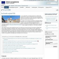 Espace actualités - La Croatie rejoint l'UE