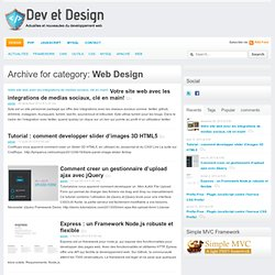 Web Design — Actualites Developpement et Design Web