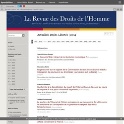Actualités Droits-Libertés
