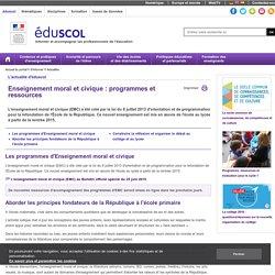 Actualités - Enseignement moral et civique : programmes et ressources