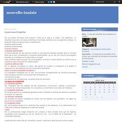 Le processus d'expertise - Le blog des actualités des entreprises en Tunisie