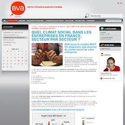 Actualités : Quel climat social dans les entreprises en France, secteur par secteur ?