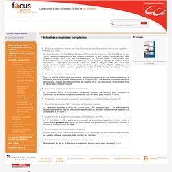 Actualités comptables européennes / Actualités comptables