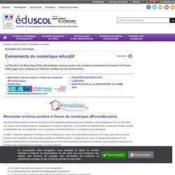 Actualités du numérique - Événements du numérique éducatif