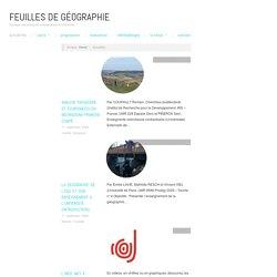 Actualités – Feuilles de Géographie