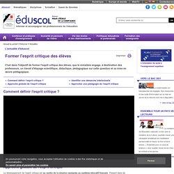 Actualités - Former l'esprit critique des élèves