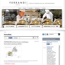 FERRANDI présente son catalogue formation continue 2012