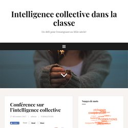 Intelligence collective dans la classe