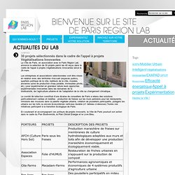 Actualites du lab - Paris Région Lab