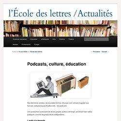Podcasts culture/éducation