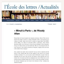 « Minuit à Paris », de Woody Allen - Les actualités de l'École des lettresLes actualités de l'École des lettres