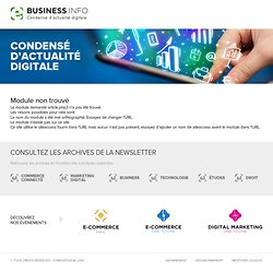 Actualités E-Marketing - Revue de presse E-Marketing - Ebusiness