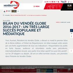 Actualités - Bilan du Vendée Globe 2016-2017 : un très large succès populaire et médiatique - Vendée Globe