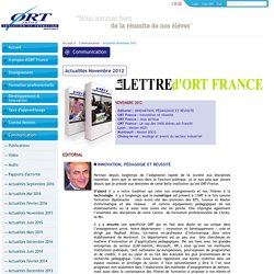 Actualités Novembre 2012 - ort.asso.fr