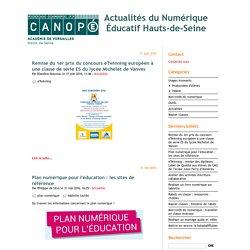 Actualités du Numérique Éducatif Hauts-de-Seine