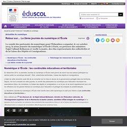 Actualités du numérique - Retour sur.... La 2ème journée du numérique à l'École
