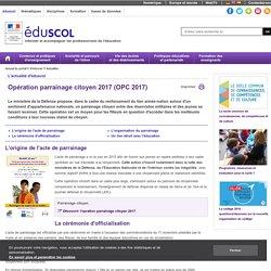 Actualités - Opération parrainage citoyen 2017 (OPC 2017)