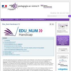 Actualités pédagogiques - Édu_Num Handicap n°2