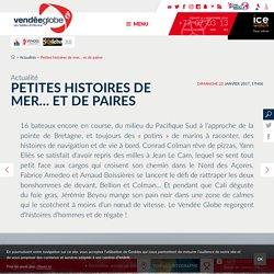 Actualités - Petites histoires de mer… et de paires - Vendée Globe 2016-2017