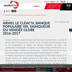 Armel Le Cléac'h, Banque Populaire VIII, vainqueur du Vendée Globe 2016-2017